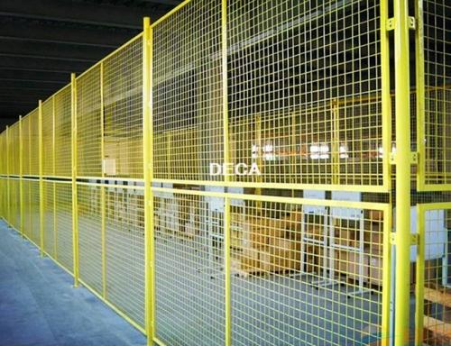 黄色仓库隔离网