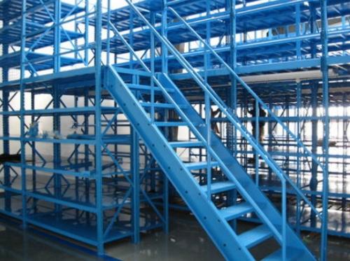 蓝色阁楼货架